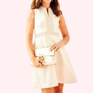 Lilly Pulitzer Franci Dress Gold Metallic